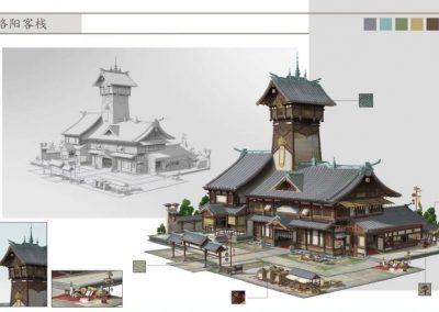 动漫游戏建筑3D建模