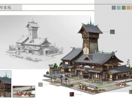 Anime Scene 3D Model